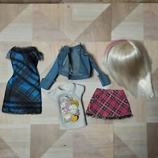 Spinmaster LIV DOLL Wig Blonde Clothes: Plaid Skirt Dress Top Jacket Outfits Lot