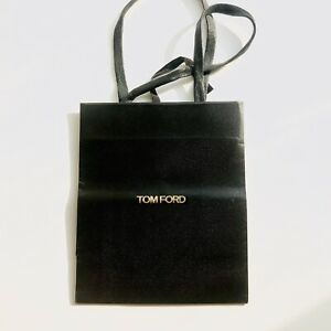 """Tom Ford Gift Paper Shopping Bag Small in Black L 7.75 x W 6.5 x D 3.5"""""""