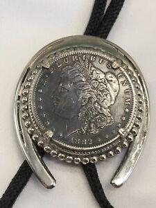 1882 MORGAN SILVER DOLLAR BOLO TIE