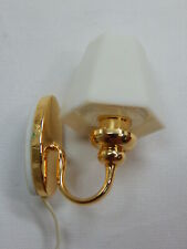 Heidi Ott Dollhouse Miniature 1:12 Scale White Shade Wall Lamp #Yl2045