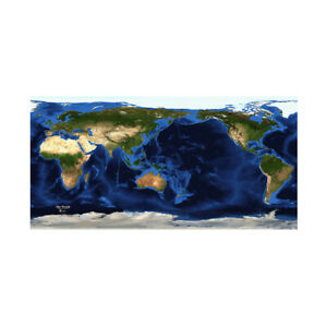 World Wall Map Prints Large Cloth Maps Poster Decor Educational P19