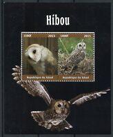 Chad 2015 MNH Owls Barn Owl 4v M/S Hiboux Birds Stamps