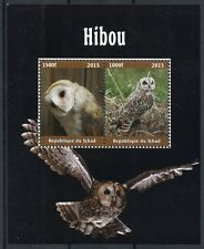 Chad 2015 MNH Owls Barn Owl 4v M/S Hiboux Birds Stamps