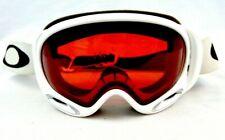 Oakley A Frame 2.0 Snow Goggles Polished White Prizm Torch Ski Snowboard