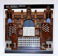 Cathedral Pipe Organ 3D Greeting Card (Music-Themed)
