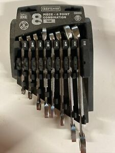 Craftsman Made in USA 8-Pc 6 Point SAE Combination Wrench Set 46988