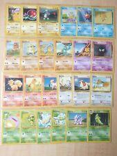 Vintage Pokemon Base Set common Cards Lot (24) Played pikachu squirttle wotc