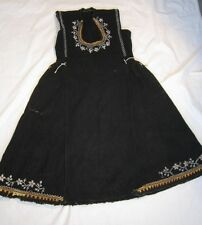 BULGARIA Antique Woven Dress Embroidered Beadwork Folk Costume Tunic 100% Wool