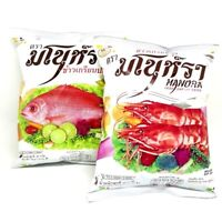 Manora Thai Fried Shrimp & Fish Chips Snack Food Crispy Picnic Camping Taste 32g