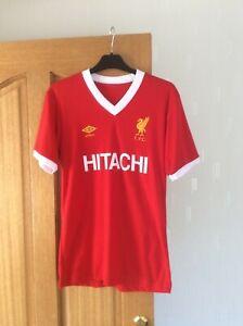 "Liverpool Football Shirt retro Hitachi Home Red shirt 1979 - 1982  Size 36"""