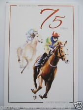FANTASTIC HORSE RACING JUST FOR YOU 75 TODAY 75TH BIRTHDAY GREETING CARD