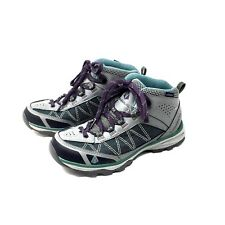 Women's Vasque Talus Trek Ultra-Dry Hiking Boots Sz 7.5 Grey Purple KK4A
