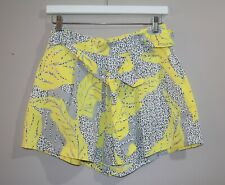 COUNTRY ROAD Brand Women's Yellow Belted Pleated Shorts Size 4 #AN02