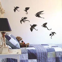 7pcs/set Fantasy Dinosaurs Game of Thrones 3D Dragons Wall Decals Stickers Gift
