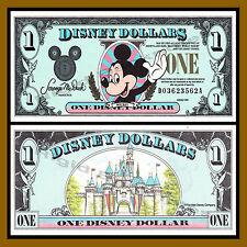 "Disney 1 Dollar, 1990 Series ""DA"" Walt Disney World Uncirculated"