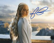 Game of Thrones Emilia Clarke autographed 8x10 photograph RP