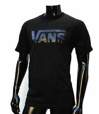 Vans Skateboard Classic Black/Black Plain Logo Mens T shirt Size Medium