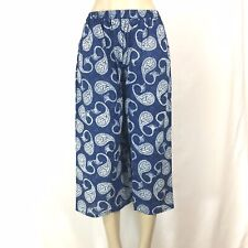 Indian Summer Block Print Boho Capri Pant COTTON 1