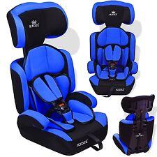 Kidiz® Siège auto enfants siège auto avec extra Coussin 9-36 kg groupe 1+2+3 Bla