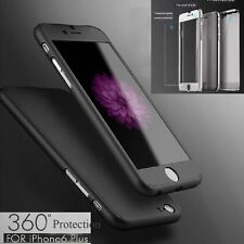 3 in 1 Case 360° Full Hybrid Tempered Glass+Acrylic Hard Case Cover For iPhone 7