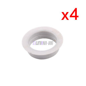 4x Bumper Grille Park Sensor Grey Sealing Ring Set For AUDI A4 A6 VW Seat Skoda
