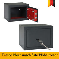Tresor Mechanisch Safe Möbeltresor Wandtresor Geldschrank Stahl 2 Schlüssel Neu