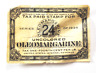 1935 Oleomargarine Uncolored Tax Paid Stamp 24 1/4 Cent Per Pound US IRS