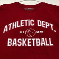 Athletic Dept All Star Basketball Men's Short Sleeve Graphic T Shirt Large L Red