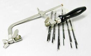 Jewelers Saw Kit Saw Frame 144 Blades -Adjustable Frame & Assorted Cutting Blade