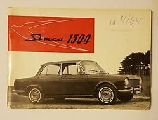 Guida operativa/Owners Manual SIMCA 1500 1964