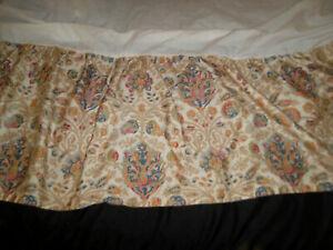 "Chaps Home Marrakesh Casablanca King Bed Skirt 14"" Floral Medallion Split Corner"