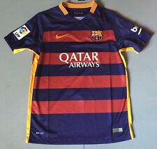 Fc Barcelona Authentic 2015 Nike Soccer Jersey Boy's Size Retail $75