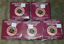 Lot of 5 Charcoal Companion Smoke in a Cup Grill and Bbq Accessory Cherry Wood