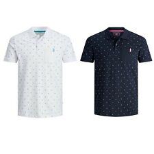 JACK&JONES Hombre Polo Camiseta Top TS Cuello estampados 23160