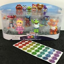 NEW 6-Piece Disney Junior Muppet Babies Playroom Figure Set w/ Hallmark Stickers