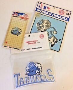 Vintage 1990's University North Carolina Tarheels Iron On Patch NOS NCAA Set 3