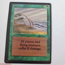 Vintage 1993 Magic The Gathering MTG Beta Hurricane Jade's Collection MP