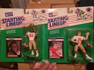 2pc lot Joe Montana Jerry rice 1989 Starting lineup Slu figures SF 49ers NEW