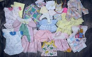 Vintage Antique Large Big Baby Doll Toy Girls Clothes Bibs Dresses Lot Play Girl