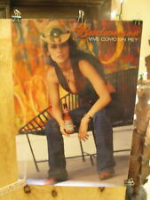 BUDWEISER Vive Como Un Rey -  2002  sexy cowgirl  POSTER  EX