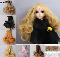 Curly DIY Doll Hair For Blythe Doll Wig For 1/3 1/4 BJD SD Doll Wavy Dolls Wig