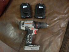 "PORTER CABLE - PCC601 20V 1/2"" Drill Driver  w 2 batteries read"