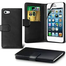 iPhone 7 Case DN-TECHNOLOGY IPHONE 7 CASE BLACK HIGH QUALITY LEATHER BOOK CAS...
