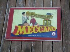 Boîte Meccano  N°1 ancienne vintage fabriqué en France