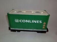 Playmobil Train Containerwaggon ensemble de 4085 vert Conlines Chariot Voiture