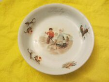 "JACK and JILL 6"" BOWL from 1920's CHILDREN WINDMILL CATS CHICKENS"