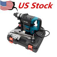 "1-1/2"" SDS Electric Rotary Hammer Drill 110V Concrete Tile Breaker Chisel US"