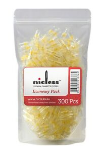 Nicless Disposable Cigarette Holder Filter Tips - (300 Filters) Economy Pack