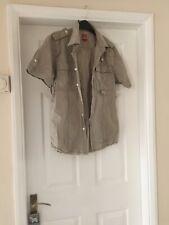 Mens Cream Fire Trap Shirt Large Co68420