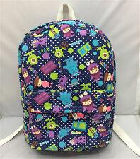 """Disney sullivan mike monster canvas backpack shoulder bag 13"""" anime unisex bag"""
